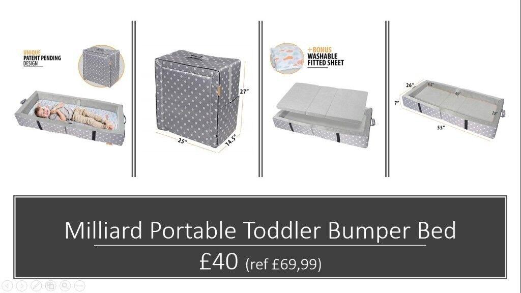 quality design 286e9 9ddec Milliard Portable Toddler Bumper Bed.   in Islington, London   Gumtree