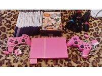 Sony Slim PS2 PINK (includes Singstar & Eyetoy) PLAYSTATION 2