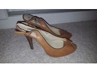 Tan heels size 6