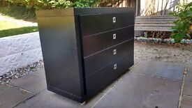 Black Ash Chest of Drawers (Matching pair)