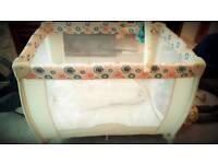 Babystart cream travel cot
