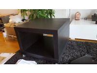 IKEA LACK black side TV stand on wheels