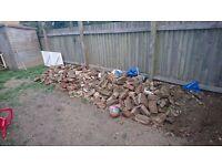 Free hardcore bricks and rubble