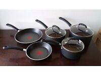 Tefal Premium Non-stick Cookware Set with Induction, 5 Pieces - Black