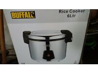 6 ltr Buffalo rice cooker .Used once. £75. Induction hob new. £18.