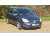 V ZAFIRA 19CTDI 08PLATE 2008 7SEATER 1P/OWNER 108000 MILES FULL SERVICE HISTORY AIRCON DRIVES SUPERB