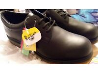 Men's Airwair Dr Martens Black Safety Shoes, Size 11, New in Box £30