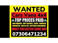♻️📞 ALL CARS 4x4 VANS WANTED SCRAP DAMAGED NON RUNNERS CASH ON COLLECTION TODAY SELL MY FAST