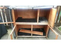 Two Storey Rabbit Hutch including thermal cover and hutch hugger protective cover
