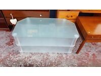 Frosted Glass Large TV Unit in Great Condition