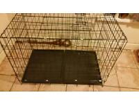 Dog cage for sale 40 by 30 twin door