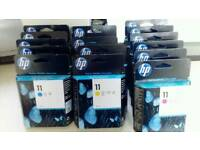 HP 11 inkjet cartridges and printheads
