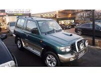 Mitsubishi SHOGUN , Diesel , GLS UK MODEL ,FLARED ARCH, 12 MONTHS MOT NO ADVISORIES