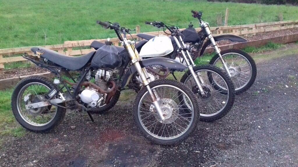 3 scrambler field bike pit bikes