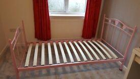 Next single bed frame -pink