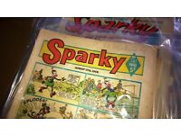 Sparky Comics 1960's and 70's