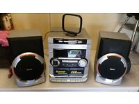 Phillips Stereo, speakers, 3CD changer, casette, radio