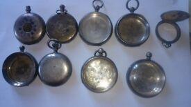 Scrap Solid Silver Watch Cases