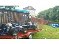 Dune buggies X2 and trailer solution separately if required