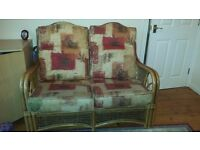 Conservatory Sofa - two seater, 2 single seats, and glass top table - £80 ono - collection only