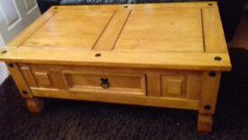 Good condition corona pine coffee table 12mth old