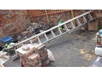 Ladders, 3 section each approx 3.6mts