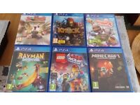Different PS4 games