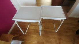 2 x Over bed tables. Can be used with a chair as well.
