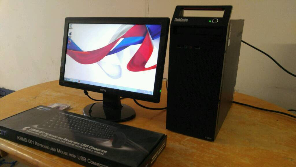 Lenovo Business Home Student PC Desktop Tower & Benq 19 Widescreen LCD
