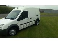 TRANSIT CONNECT. LONG WHEEL BASE HIGH TOP WITH SIDE DOOR. 11 MONTHS MOT