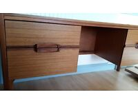 Teak Vintage Dressing Table with Four Drawers