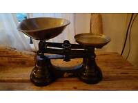 Genuine Librasco Kitchen balancing scales with Brass Tray and Plate