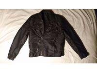 Mens Coat/ jacket (stonewashed, biker jacket, leather style)BNWT