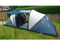 brand new Trespass Go Further 6 Man Two Room Tent