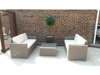 2 Seater Sofa X 2 and matching table inc cushions