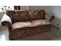 Beautiful traditional solid-framed sofa for sale.
