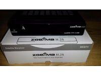 ZGEMMA H.2S TWIN TUNER SATELLITE BOX, CUSTOM S*Y IMAGE AND USB STORAGE+12 MTHS SERVICE OPENBOX