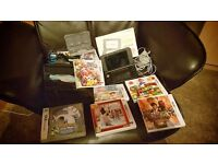 Nintendo 3ds XL (silver) with accessory kit, charger and 6 games (super mario, lego, pokemon, more..