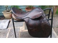 E. Jefferies Walsall Brown Saddle. 17inch Seat. Gullet Wide/Medium