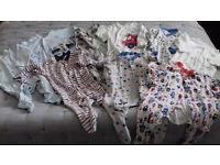 3-6 mth children's bundle sleepsuits