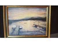 Sunset on Windermere by Norman Dexter (Oil on Board - Framed)