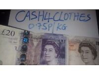 Cash For Children Clothes and Shoes. Better Price of 0.75p per KG plus Free Collection Guaranteed!