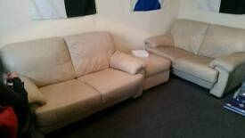 2x 2-seater and foot stool