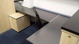 Hot desks in creative community office