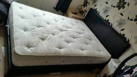 Double bed mattres and bed frame