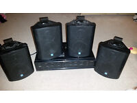 TOA PA AMPLIFIER A-1031 AND 4 SPEAKERS