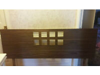 Wooden king size headboard good condition