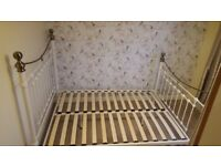 Victorian style metal double bed frame