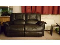 Faux Leather Reclining Sofa