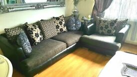Sofa 3 seater 1 seater chair fabric and leather dfs
